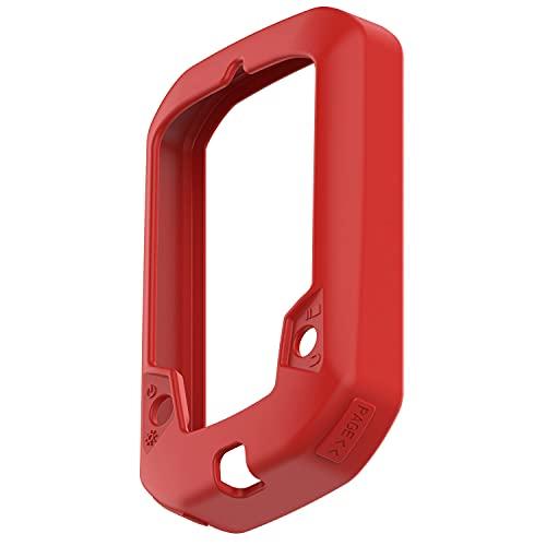 Braleto Funda Compatible con Bryton Rider 430/320, GPS Bicicleta Navi Accesorios Funda Pantalla de Silicona (Rojo)