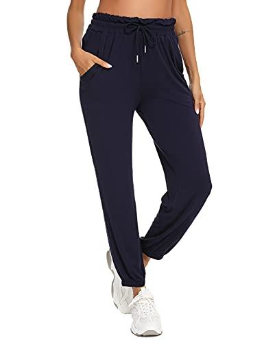 Sykooria Pantalones Verano Deportivos para Mujer de Algodón Pantalone de Yoga Pilates con...