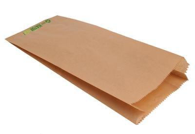 der-verpackungs-profi 1000 Bäckerfaltenbeutel Bäckertüten Faltenbeutel braun Natron Kraftpapier (429, 20+7x32cm)
