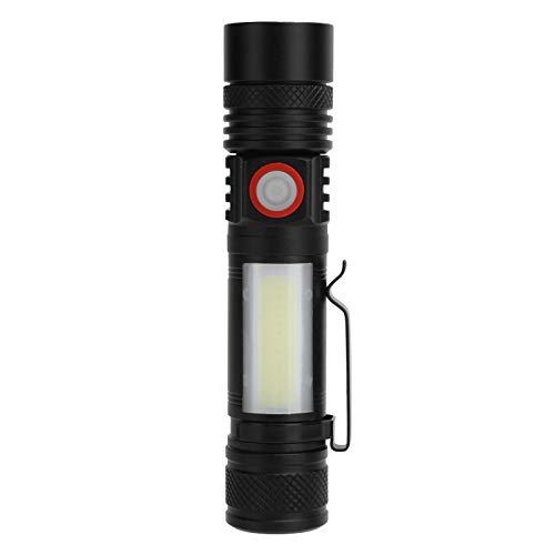 Pwshymi Antorcha eléctrica Linterna Potente Linterna Diseño ergonómico Senderismo de tamaño pequeño
