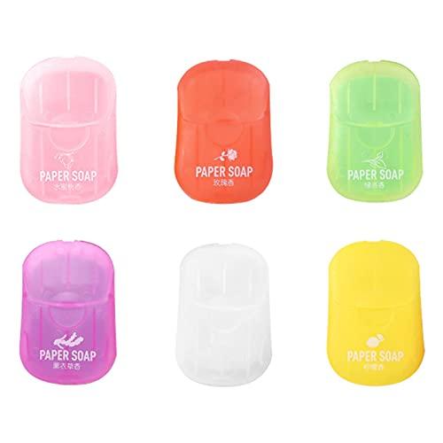 MOVKZACV Soa P Mini-Duftblätter mit Aufbewahrungsbox, 120 Stück, für WC, Bad, Reisen, Camping, Wandern, leicht zu reinigen