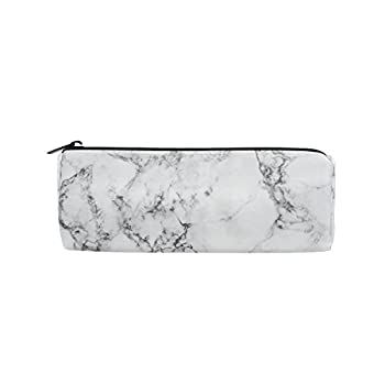 KUWT Pencil Bag Marble Abstract Pattern Pencil Case Pen Zipper Bag Pouch Holder Makeup Brush Bag for School Work Office