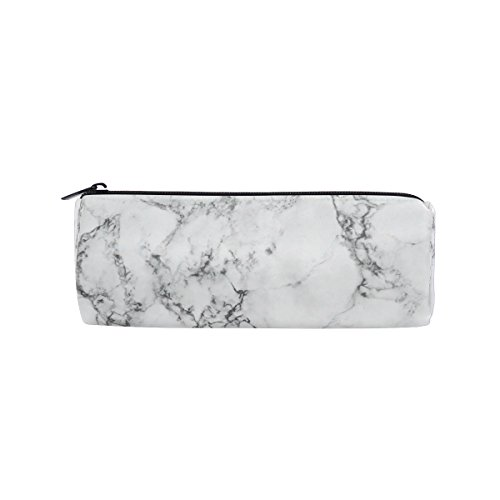 KUWT Pencil Bag Marble Abstract Pattern, Pencil Case Pen Zipper Bag Pouch Holder Makeup Brush Bag for School Work Office