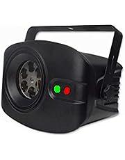 LED Laser Projector DJ Disco RGB Stage Licht Afstandsbediening Effect Geluid Zelfbeheersing Smart Laser Kerst Woondecoratie (Color : Black)