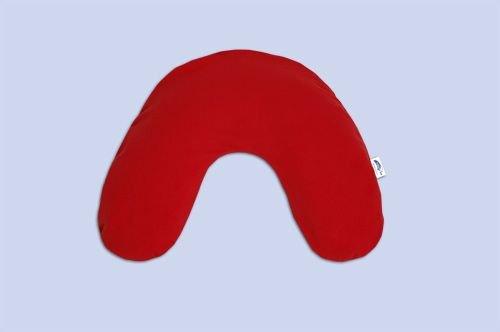 Theraline Nackenkissen Klein 85x19cm Mikroperlenfüllung Jersey Rot Baby