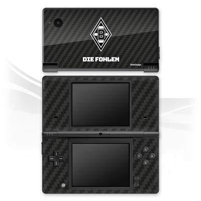 DeinDesign Skin kompatibel mit Nintendo DSi Folie Sticker Borussia Mönchengladbach Carbon Gladbach