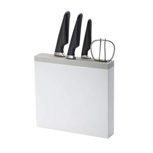 ZHANMAGS Bloque Universal para Cuchillos Blanco Cuadro Cuchillo Universal De Plástico For La Pared, Soporte De Cuchillo De Cocina Sin Cuchillos 12 Ranuras Organizador De La Fuente del Arte 0401