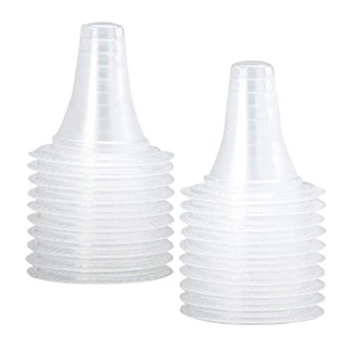 shamjina 20 piezas de cubierta de sonda de repuesto de plástico suave Premium para termómetro de oído Braun termoscan