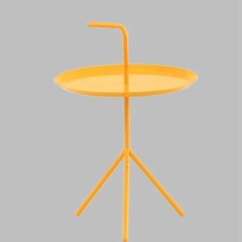 ALBBMY Coffee Tables 38 * 41cm portable handle tea table round side table Bedside table Coffee tables (Color : Yellow)
