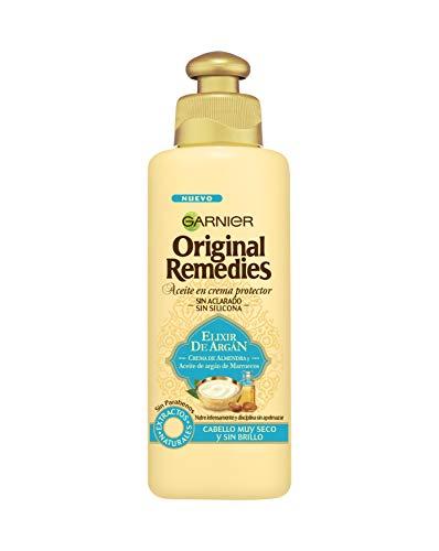 Garnier Original Remedies Elixir de Argán Aceite en crema protector sin aclarado sin silicona para un pelo muy seco y sin brillo - 200 ml