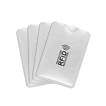 10 Set Anti Rfid Wallet Blocking Reader Lock Credit Card Holder Id Bank Card Case Protection Metal Credit NFC Holder Aluminium fits Wallet/Purse  9163mm TYPE 1