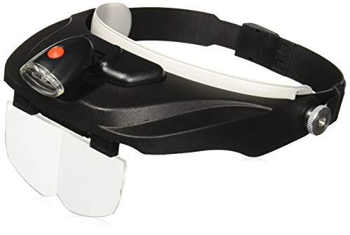 Carson MagniVisor Kopflupe der Baureihe PRO mit LED-Leuchte und 4 Wechsellinsen