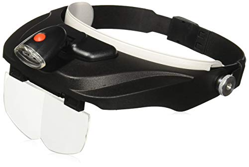 Carson Optical Pro Series MagniVisor Deluxe Head-Worn LED...