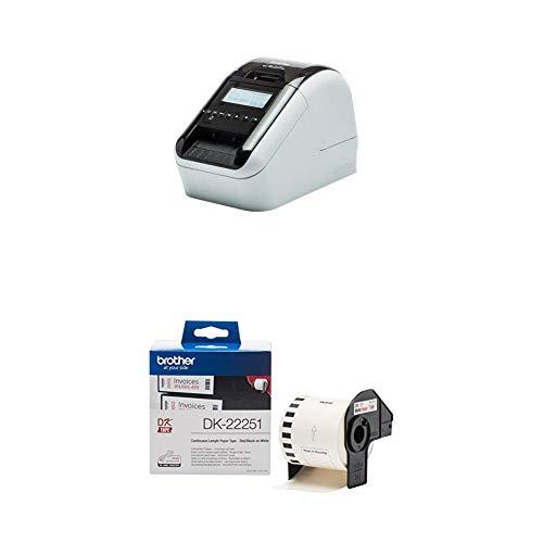 Brother QL-820NWB - Impresora de etiquetas + Brother DK22251 - Cinta continua de papel térmico