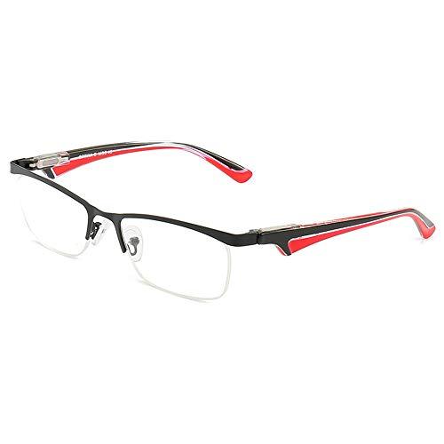 Reading glasses Half Frame Metal Half Rim Glasses, Spring Hinge Readers for Men Women