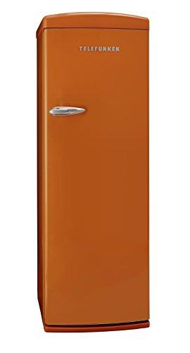 Telefunken TFK043FO2 Kühl-Gefrier-Kombination / A++ / 177 cm Höhe / 197 kWh/Jahr / 281 L Kühlteil / 30 L Gefrierteil / Retro-Design / orange