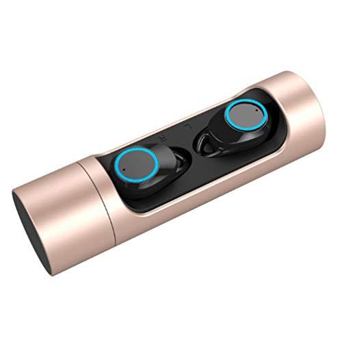 Twins Dual Stereo koptelefoon Mini Headset Wireless Handsfree koptelefoon Goud