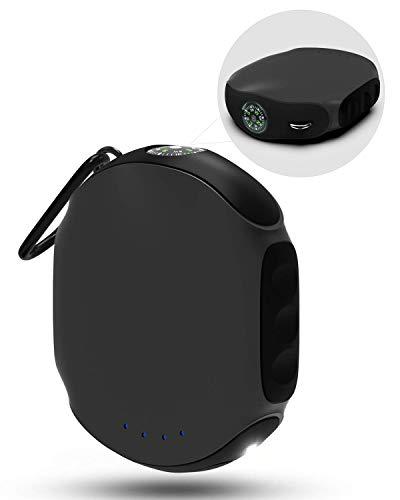 ABFOCE Batería Externa Powerbank 10000mAh Impermeable, ES360 Cargador Portátil Pequeño para Móvil Carga Rápida con Brújula y Linterna