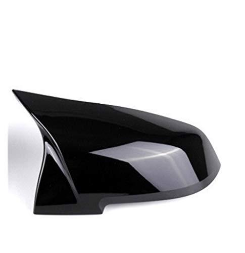 Pingping ZZPING 2 Piezas retrovisor Espejo Cubierta Tapa Fuego Negro Ajuste para la Serie BMW 1 2 3 4 x M 220i 328i 420i F20 F21 F22 F23 F30 F32 F33 F36 x1 (Color : Black Right)