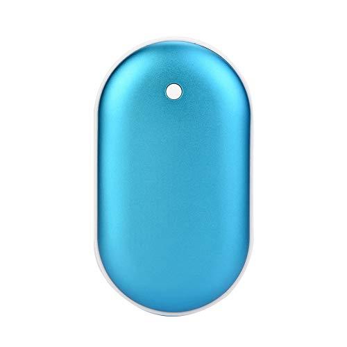 Cosiki Aquecedor de mãos quente Summer Surprise, reutilizável e durável, recarregável, leve para o inverno ao ar livre (azul)