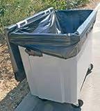 Bolsas de basura | Funda Contenedor | 1000 Litros | Color Negro | Grosor 30μ | Paquete de 50 Bolsas