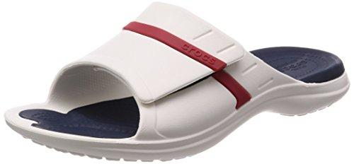 crocs Herren Sandale MODI Sport Slide 204144 White/Navy/Pepper 37-38
