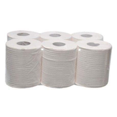 Papel secamanos industrial Lecasa 6 bobinas Gofrado150 metros, 2 capas, 100% celulosa, blanco.