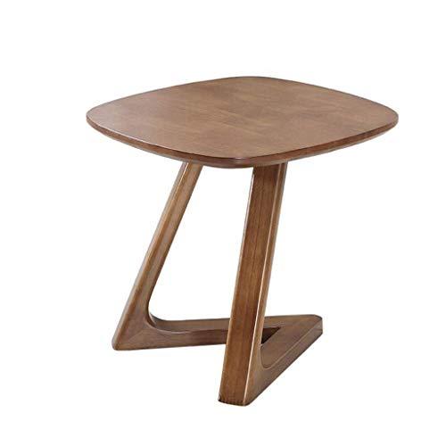LY88 woonkamer bijzettafel | vierkante retro salontafel geschikt voor kleine ruimtes | massief houten bank woonkamer bijzettafel (kleur: B)