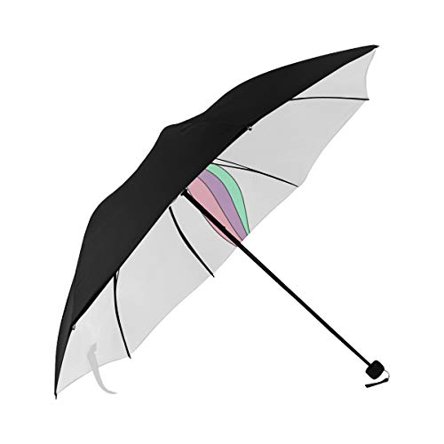 Travel Umbrella Stroller Unicorn Engaged In Yoga Underside Printing Best Umbrella Compact Traveling Umbrella For Women With 95 Uv Protection For Women Men Lady Girl