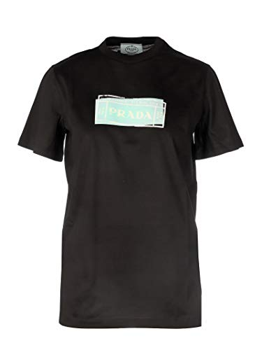 Luxury Fashion | Prada Dames 35838S1611V0EF0002 Zwart Katoen T-shirts | Lente-zomer 20