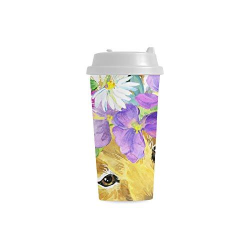 Acquerello Beautiful Wild Fox Personalizzato Personalizzato Stampa 16 Oz Doppia parete di plastica isolato bottiglia d'acqua Coppe Pendolari di viaggio Tazze di caffè per studenti donne Milk Teacup