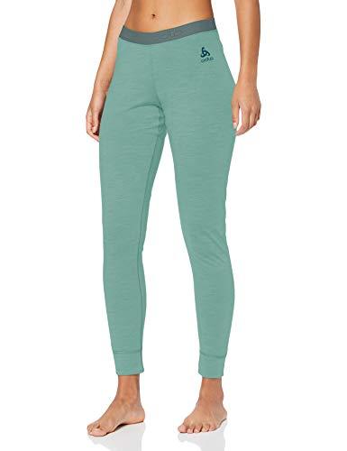 Odlo SUW Bottom Pant Natural 100% Merino Warm, Mutande Donna, Verde Malachite, XL