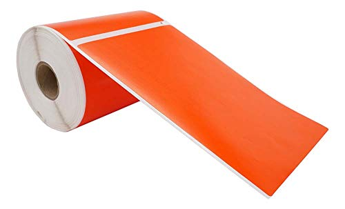 """Compatible with DYMO 1744907 4XL Orange - 1 Roll; 220 Labels per Roll of Multipurpose High Visibility Labels (4"""" x 6"""") 4x6- BPA Free! Ships Fast!"""