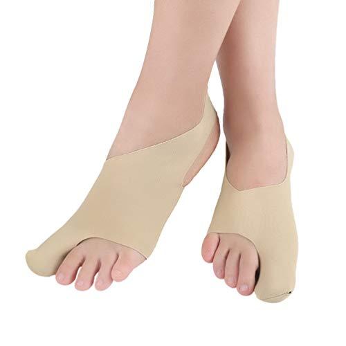 Exceart 1 par de protetores de joanetes corretores de joanetes para alívio de joanete e tala para separadores de dedos grandes para mulheres e homens
