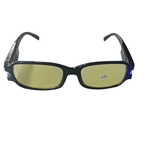 Gafas de lectura universales para hombres y mujeres, lentes de resina para magnetoterapia, gafas para presbicia, gafas con luz LED