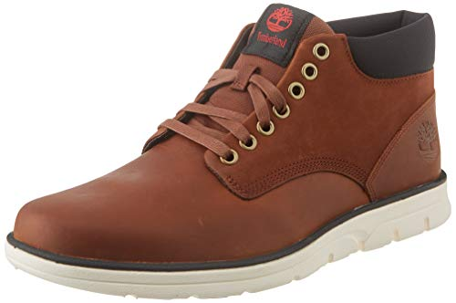 Timberland Bradstreet Chukka Leather, Stivali Uomo, Pelle, Materiale suola: Gomma, Larghezza scarpa: medium, Marrone (Md Brown Full Grain), 42 EU