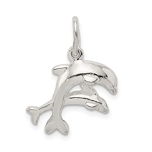 925 Sterling Silver Dolphins Pendant Charm Necklace Sea Life Dolphin Fine Jewelry For Women Gifts For Her