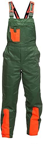 WOODSafe Pantalon de Protection Contre Les coupures Classe 1 pour Homme Vert/Orange Taille 52