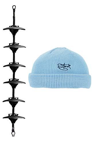 2Stoned Cap-Rack Basic Kappenhalter in Schwarz mit 6 Clips zum Aufhängen von bis zu 18 Baseball Caps + Zugabe