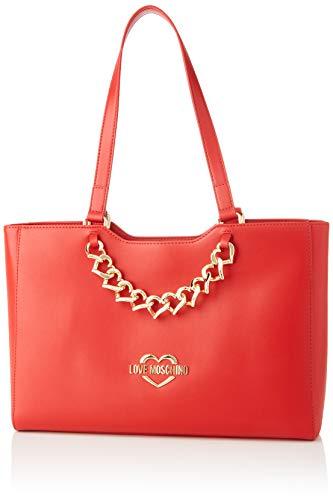 Love Moschino Jc4256pp0a, Borsa Tote Donna, Rosso (Red), 9x25x37 cm (W x H x L)