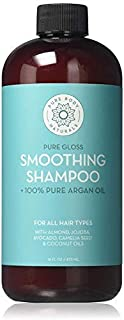 Argan Oil Shampoo, Hydrate and Restore Hair with 100% Natural Moroccan Argan Oil, Keratin and Biotin, Color Safe, Sulfate Free and Paraben Free by Pure Body Naturals, 16 Ounce (Label Varies)