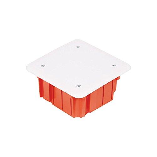 Unterputz Abzweigkasten 105x105x50 Abzweigdose, UP Gehäuse mit weißem Deckel