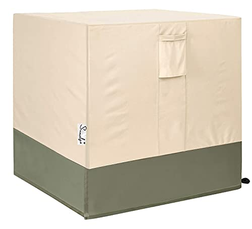 Sunolga Air Conditioner Cover for Outside Units, Water Resistant and Windproof Design - AC Covers Fits up to 32 x 32 x 36 inches