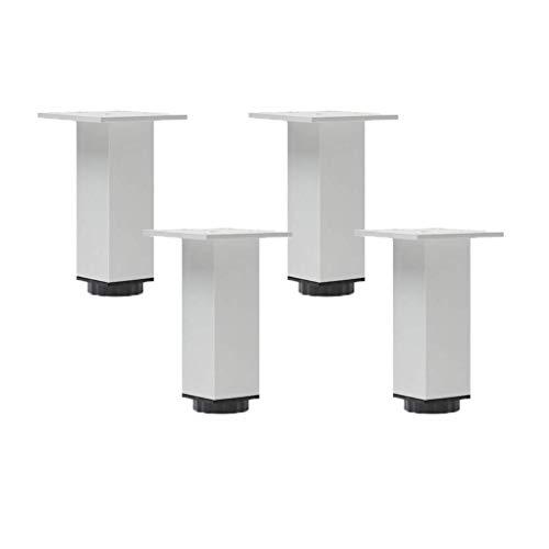 LMZJLU Patas de Muebles Patas de Mesa de Metal Ajustables Patas de Muebles Plateadas Patas de aleación de Aluminio Patas cuadradas de Repuesto Elevadores de Muebles Patas de sofá Sofá Cama Armarios