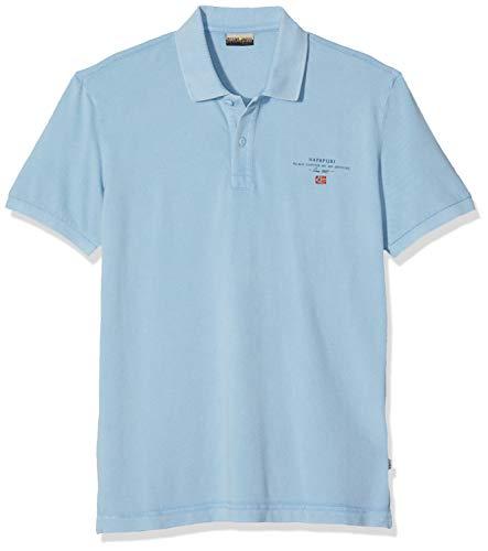 NAPAPIJRI Elbas 2 Polo, Blu (Dusk Light Blue I67), Small Uomo