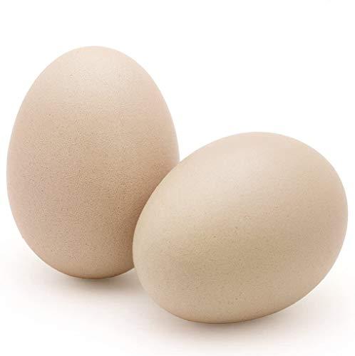 "SunGrow Ceramic Chicken Eggs, 2.75"", Real Color, 2 Pcs per Pack"