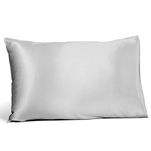 Fishers Finery 25mm 100% Pure Mulberry Silk Pillowcase, Good Housekeeping Winner (Gray, Standard)