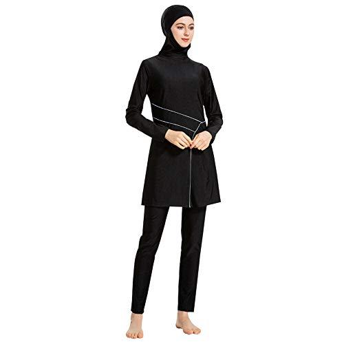 Meijunter Femmes Maillots de Bain Musulmans Hijab Islamique Couverture Complète Conservateur Burkini pour Nager Surf Sport