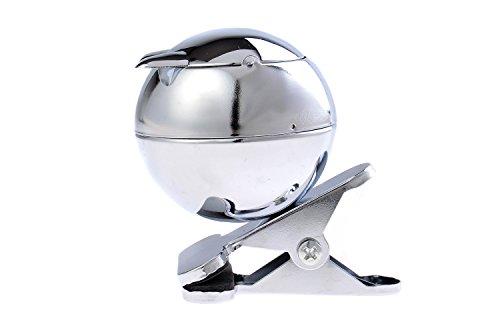 The Khan Outdoor & Lifestyle Company Quantum Abacus Windaschenbecher aus Zinklegierung, in Form Einer Katze, mit Klemmvorrichtung für Befestigung am Tisch, poliertes Metall, Mod. 778A (DE)