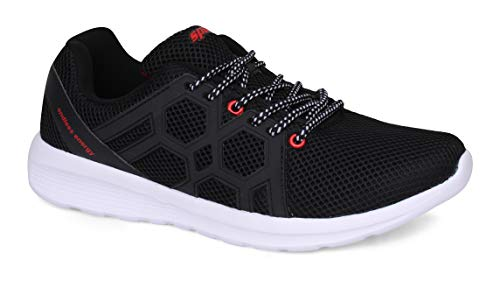 Sparx Men's Black Red Running Shoes-9 UK (43 EU) (SX0421G)